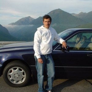 French Alps with my Merc. Great car.