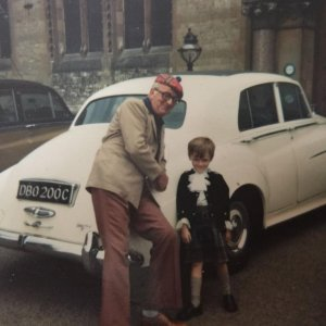 Me as a child with my fathers Silver Cloud II